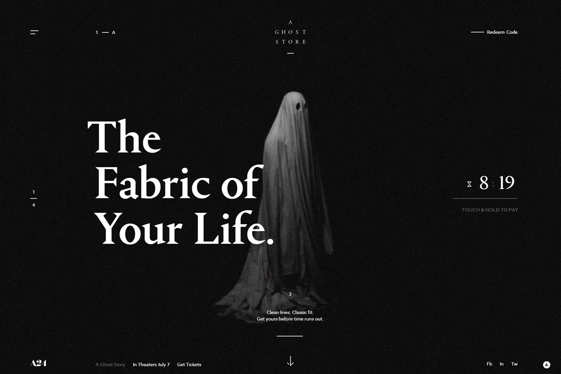 Best Web Designed Sites For June 2017, A Ghost Store
