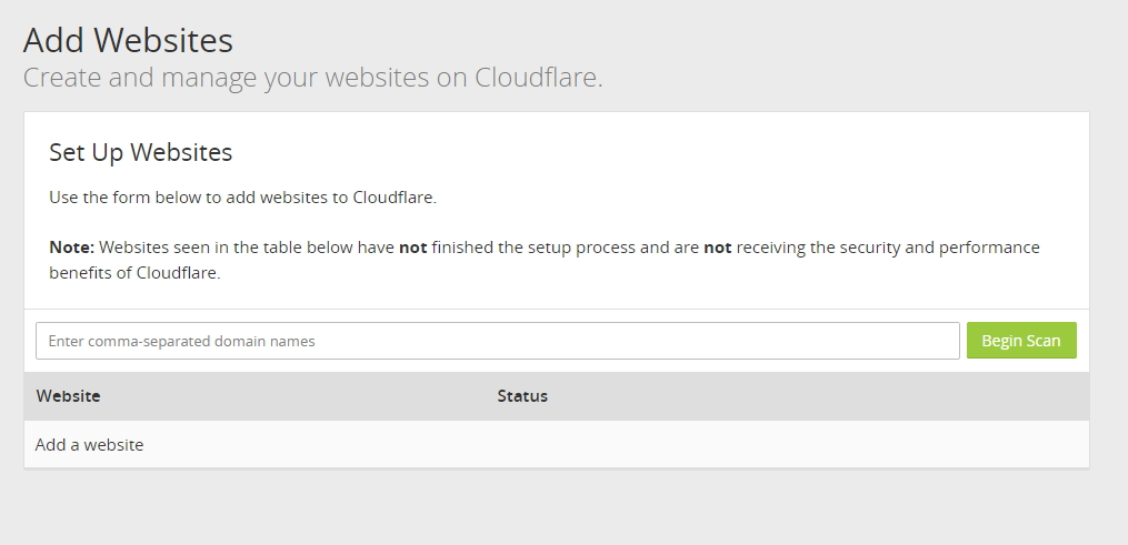 Add Your Website To Cloudflare