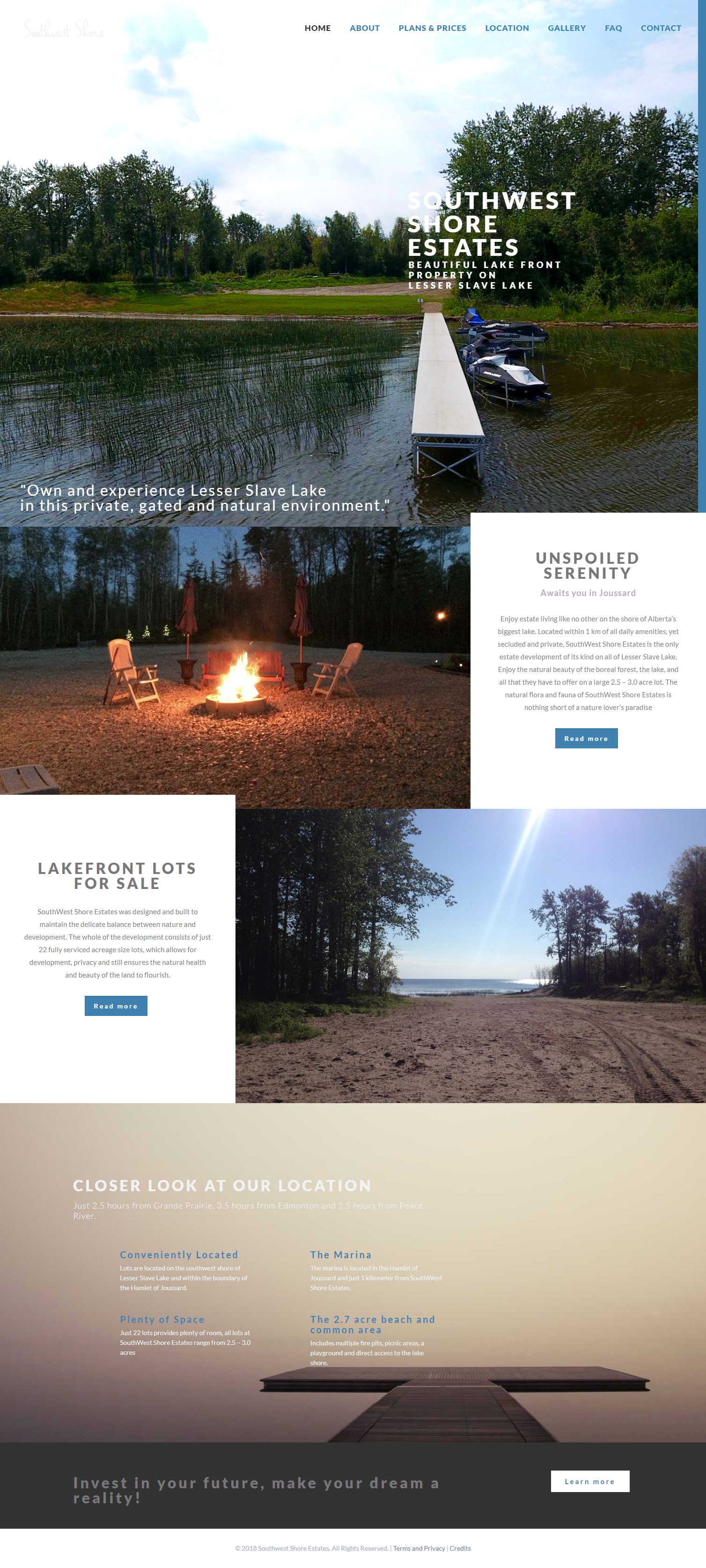 Southwest Shore Estates Web Design By Sixo Media