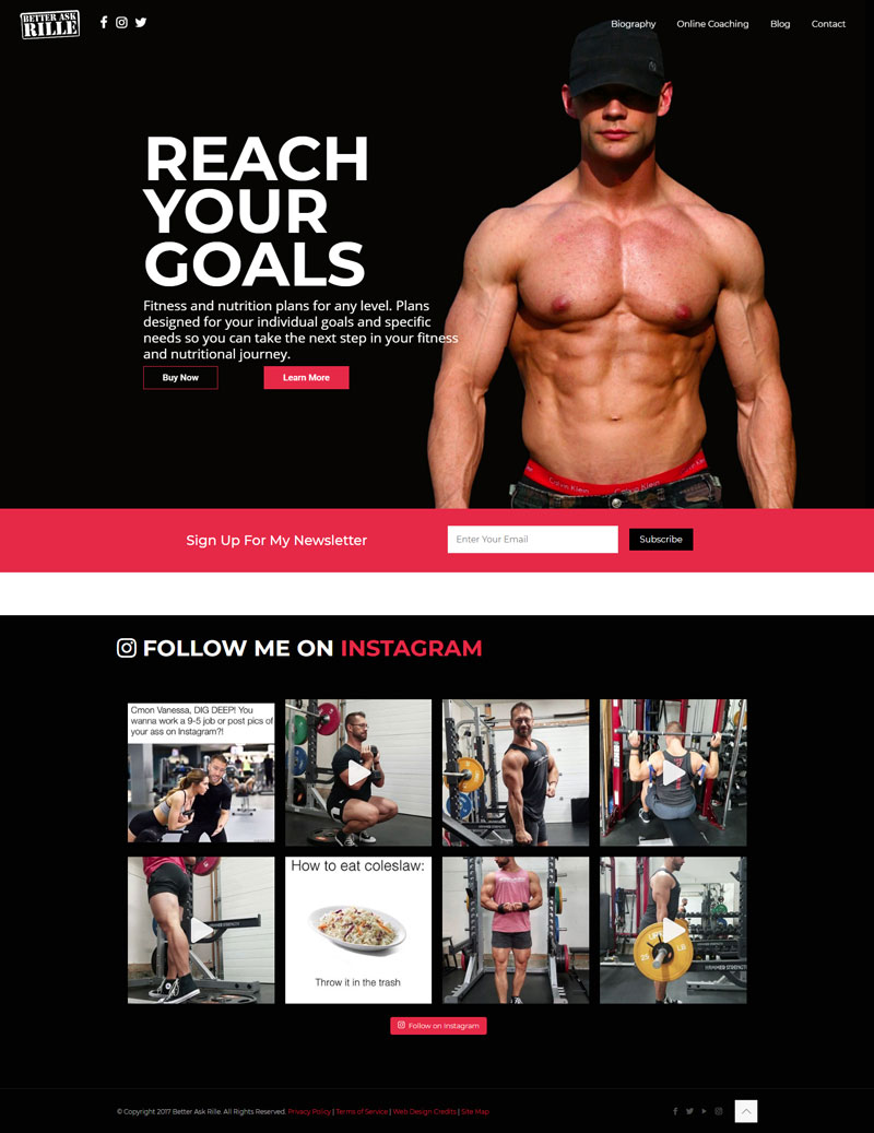 Fitness Web Design in Grande Prairie