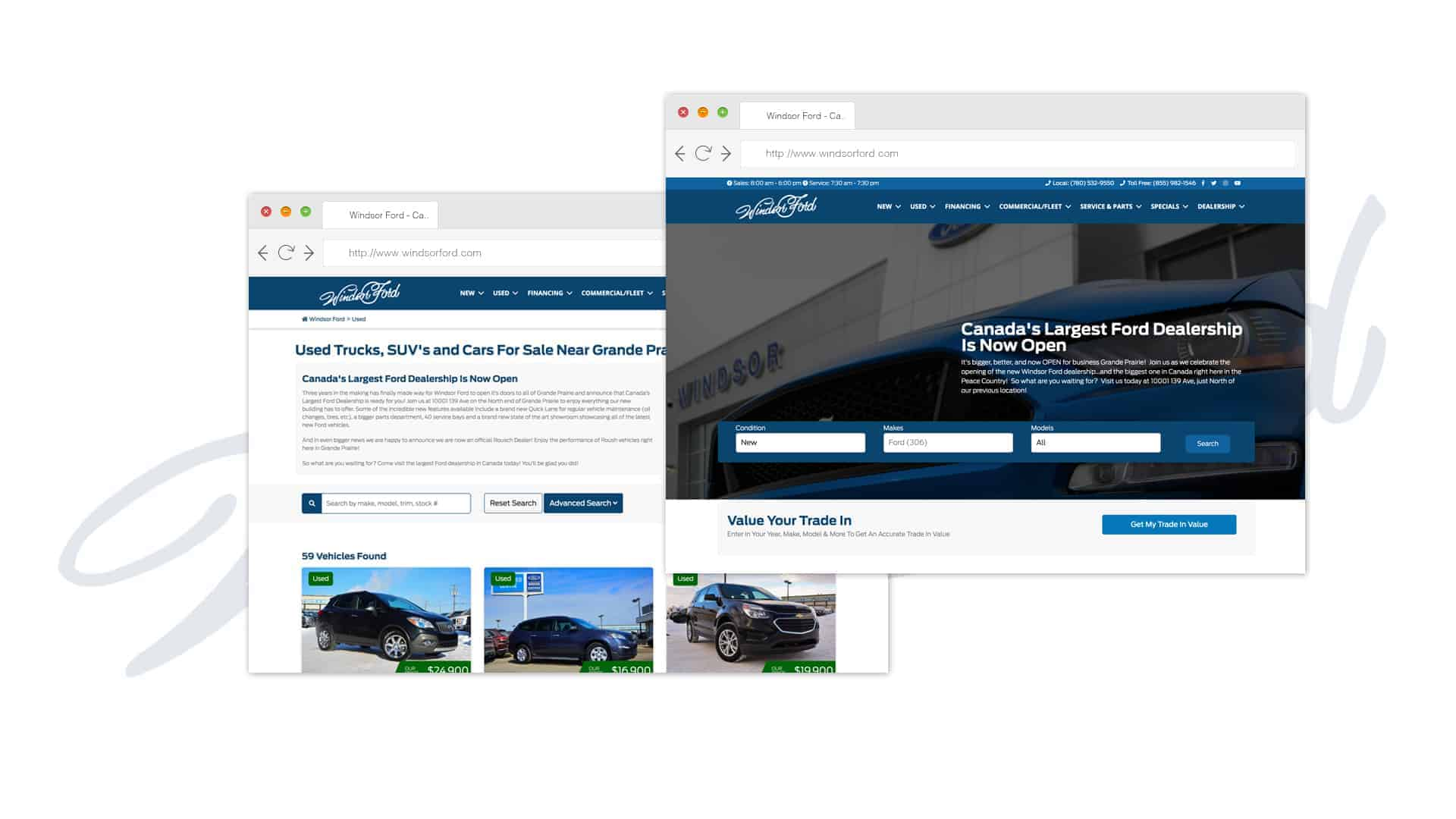 Windsor Ford Website Mockups